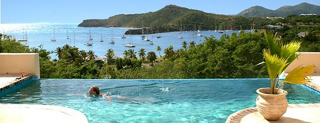 Antigua Villas and cottages for rent many with swimming pools and stunnning ocean views