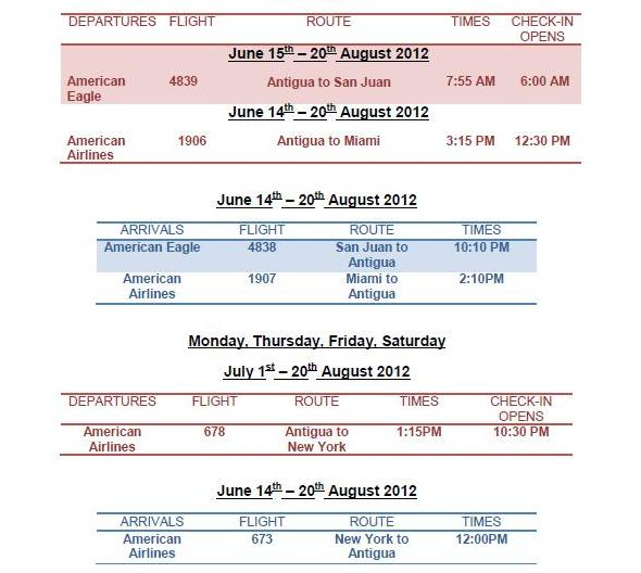 American Airlines Flight Schedules