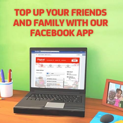 Digicel New Facebook 'Top Up' App