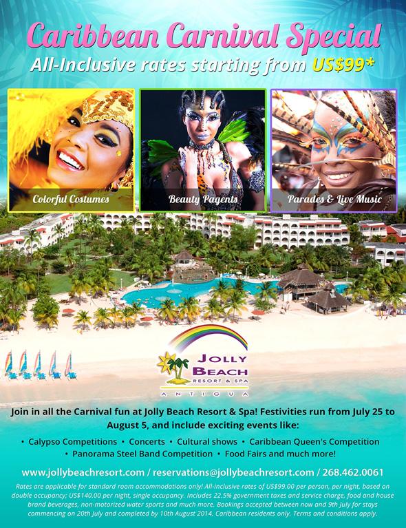 Antigua Special Carnival Hotel Special