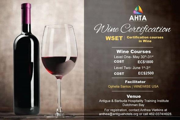 Antigua Classes: WSET Wine Certification Courses
