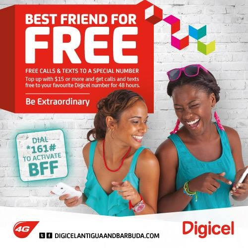 Antigua Telecomm: Digicel's Best Friend for Free Promotion