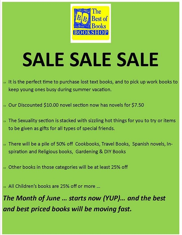 Antigua Specials: Book Sale