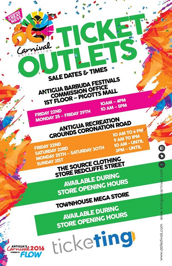 antigua news  carnival tickets outlets