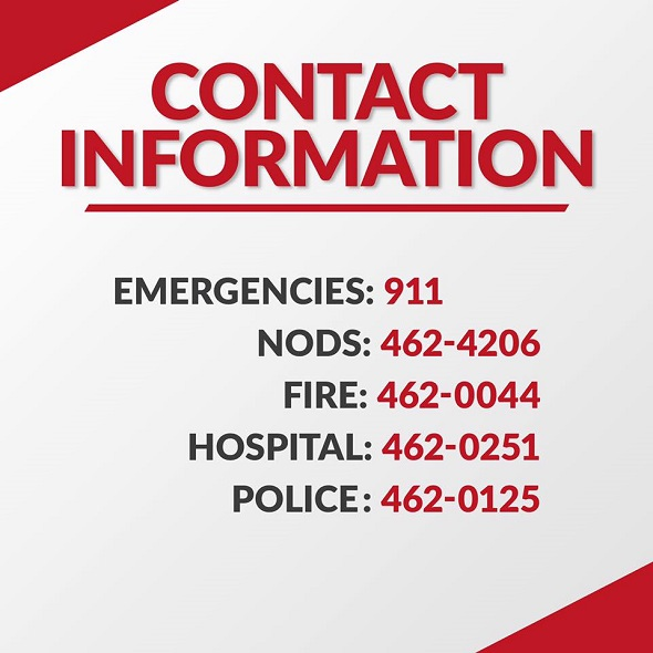 Antigua News Emergency Contact Numbers