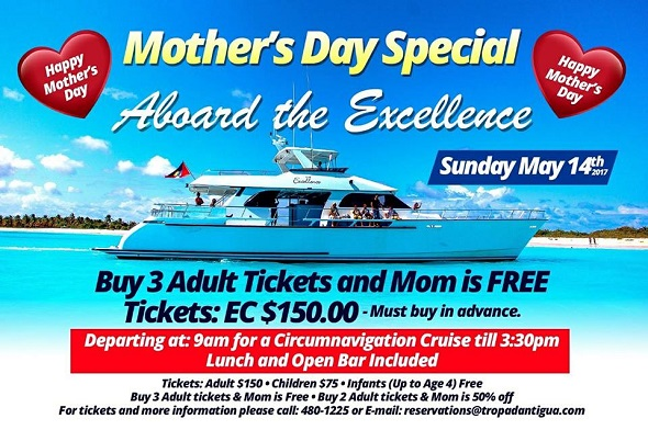Antigua Tours Mother S Day Boat Cruise