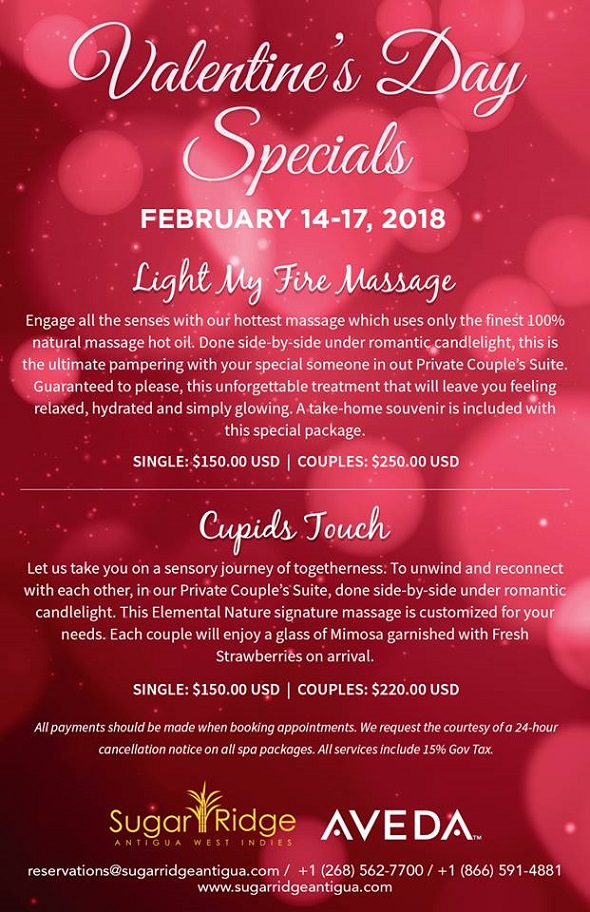 Antigua Specials Valentine S Day Spa Specials