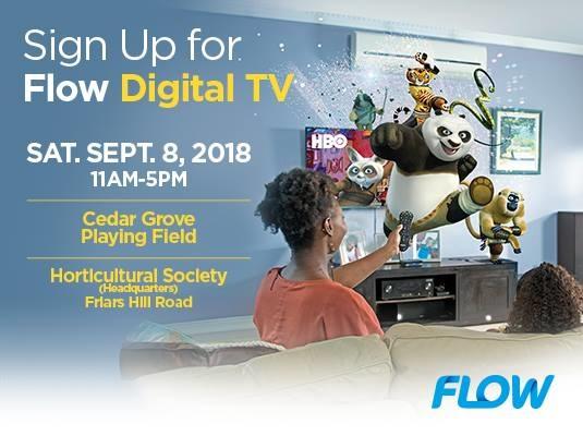 Antigua Events: Flow Digital TV Sign Up Venues